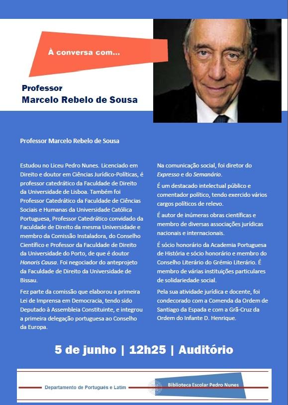 Cartaz  Professor Marcelo Rebelo de Sousa  - 5 junho -1