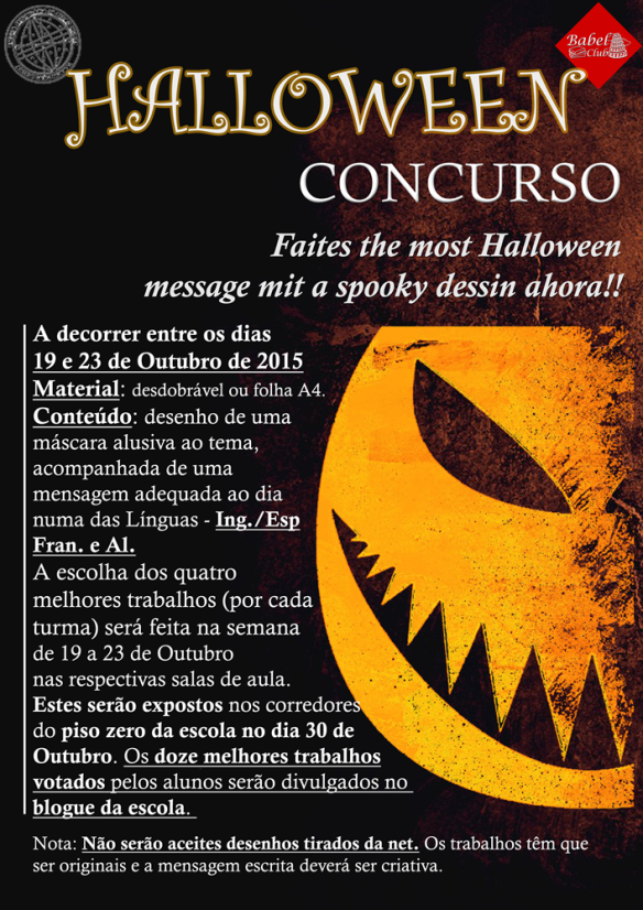 halloween cartaz