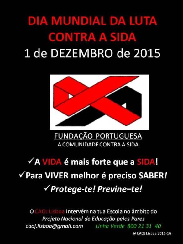 Cartaz CAOJ Lisboa DIA MUNDIAL DA LUTA CONTRA A SIDA - PES Escolas net (1)