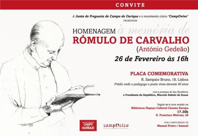 HOMENAGEM A RÓMULO DE CARVALHO